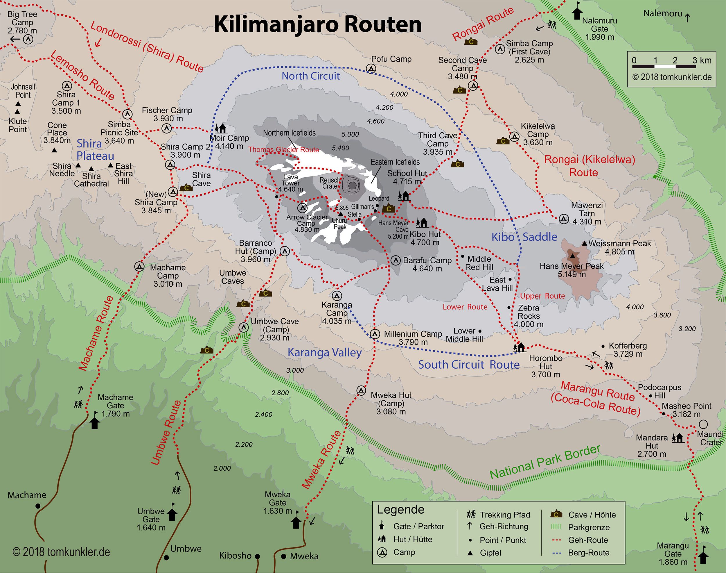 Kilimanjaro Routen Informationen Tansania Reisen Informationsportal