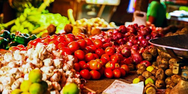Auf dem Gemüsemarkt in Tansania